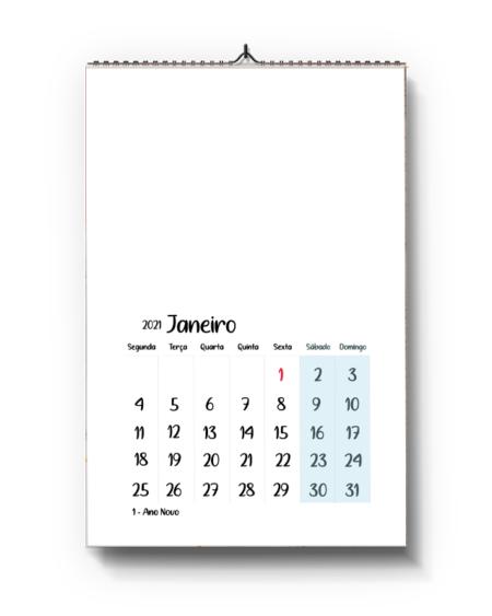Calendário A4 – Tema livre